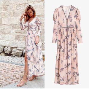 Zara limited edition printed maxi dress